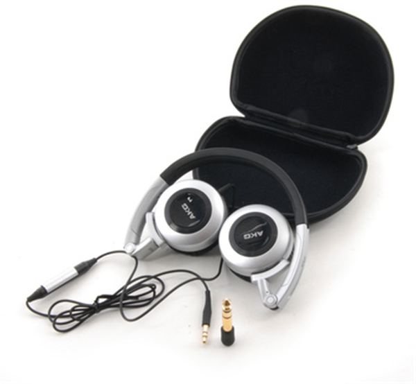 The AKG K430 is an on-the-ear headset with in-line volume control, and collapses for easy travel.
