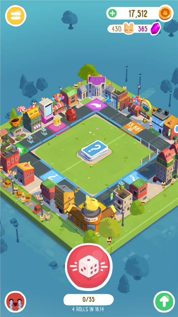 BoardKings is a game of luck that looks very similar to Monopoly for Android an iOS.