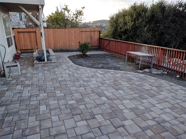 The result of our paver stone project in the SF Bay Area in 2017.