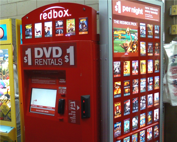 Redbox is the dvd/bluray rental service offering movies and a small selection of games.