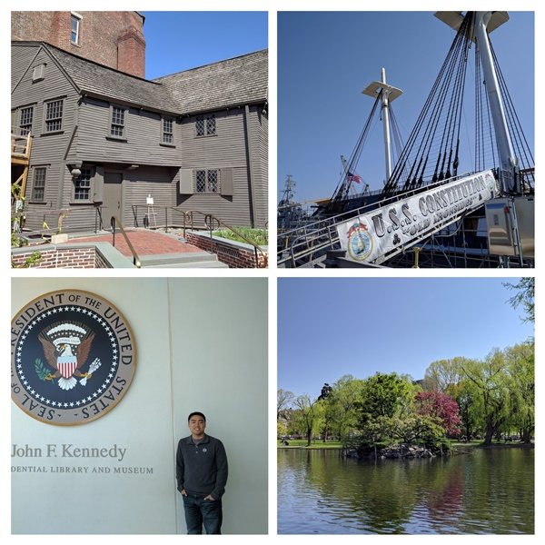 Some of the locations we sightsaw in Boston.