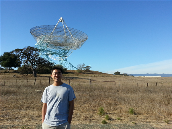 Me in front of the Stanford Dish on the Stanford Dish Hike in Palo Alto California.