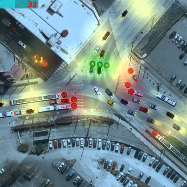 An android game dedicated to efficiently directing traffic by being a traffic controller. Set when lights turn from red to green, and vice versa.