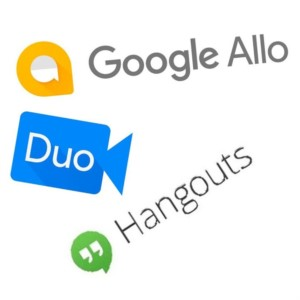 Google Hangout, Google Allo, and Google Duo