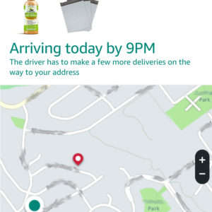 Ability to track the delivery truck as your Amazon package approached your home via the Amazon mobile App.
