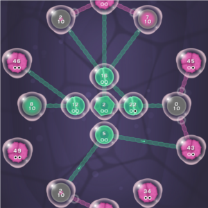 "Android game ""Cell Expansion Wars"" by developer Mobirix."