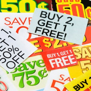 Coupons... you spend a lot of money to save money!