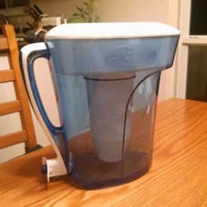 The 6-Cup Zero Water Pitcher, which also comes with a lab grade water tester meter, and one ion-exchange filter.