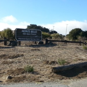 The entrance to Monte Bello Open Space Preserve parking lot and trailhead. Well marked!