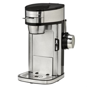 A single serve coffee maker that isn't a K-Cup. Use any ground coffee you want without the need of stocking up on coffee filters.