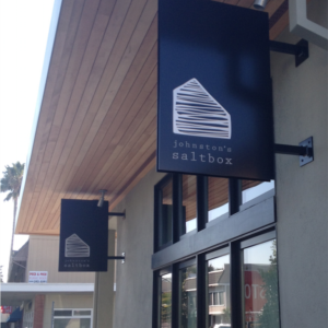 Johnston's Saltbox is a modern restaurant in San Carlos, CA.