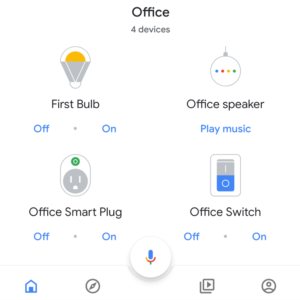 Google Smart Home Assistant with Smart Plug, Smart Outlet, Office Speaker.