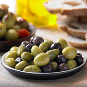 Olives: a healthy snack.