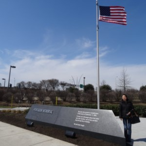 Located outside the Pentagon where American Airlines Flight 77 crashed into the Pentagon.