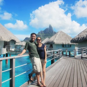 Walking on the way to our overwater bungalow.