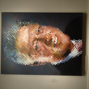 A unique picture of Bill Clinton in the National Portrait Gallery in Washington DC.