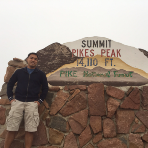Top of Pike's Peak, 14000+ feet!