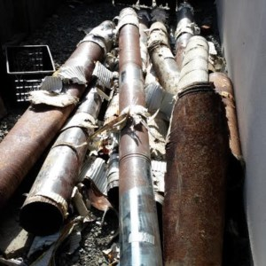 The rusted HVAC Heating pipes that were removed from my house in Millbrae, CA