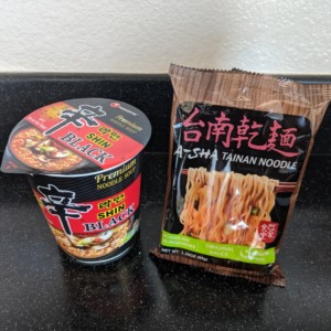 Nongshim Shin Black vs A-Sha Tainan Noodle from Costco