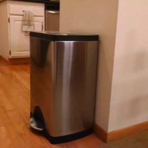 A Simple Human 38L Trash Can, rectangular, great for kitchens!