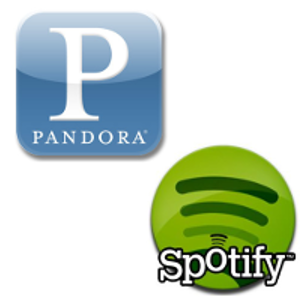 Two free streaming music companies.