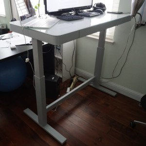 A $200 sit and stand desk, electronic.