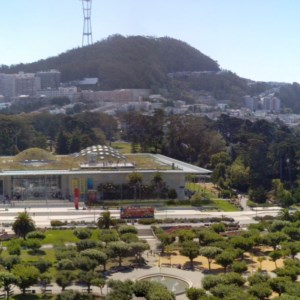 A view from the top of the observatory of the de Young museum. Must see, and I believe it is free for everyone!
