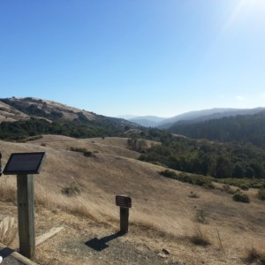 A view of the first mile of the hike (in Nov)